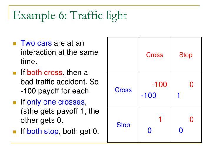 Example 6: Traffic light