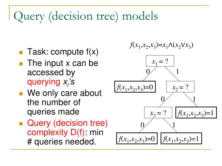 Query (decision tree) models