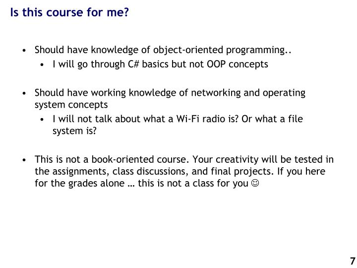 Is this course for me?