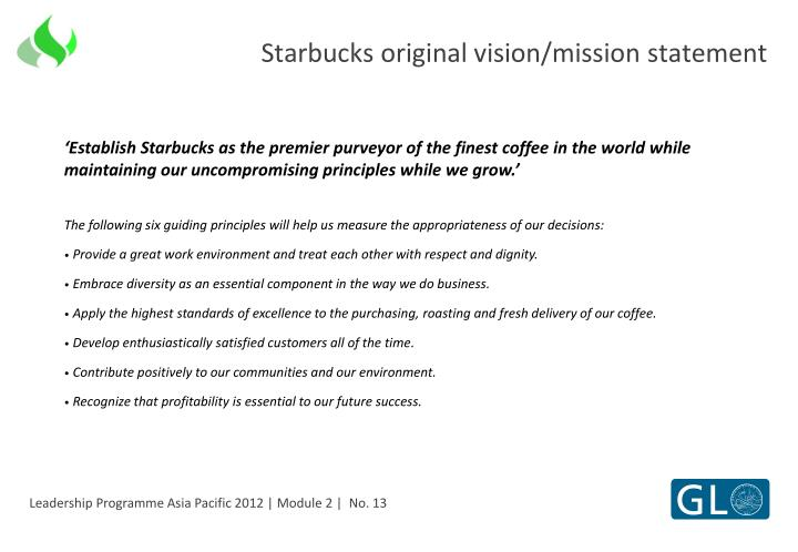 starbucks vision and mission statement