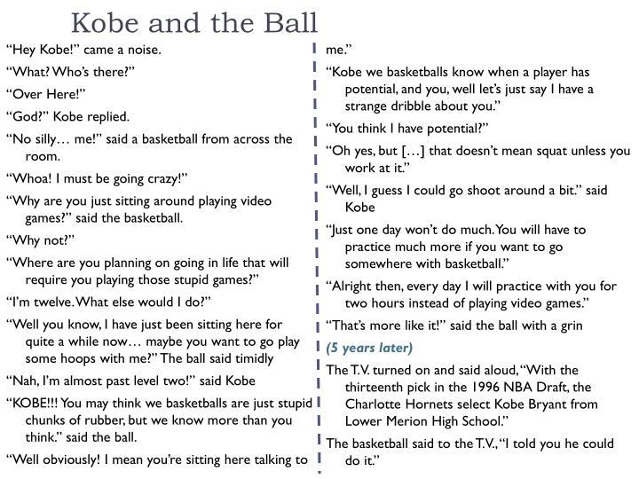 Kobe and the Ball