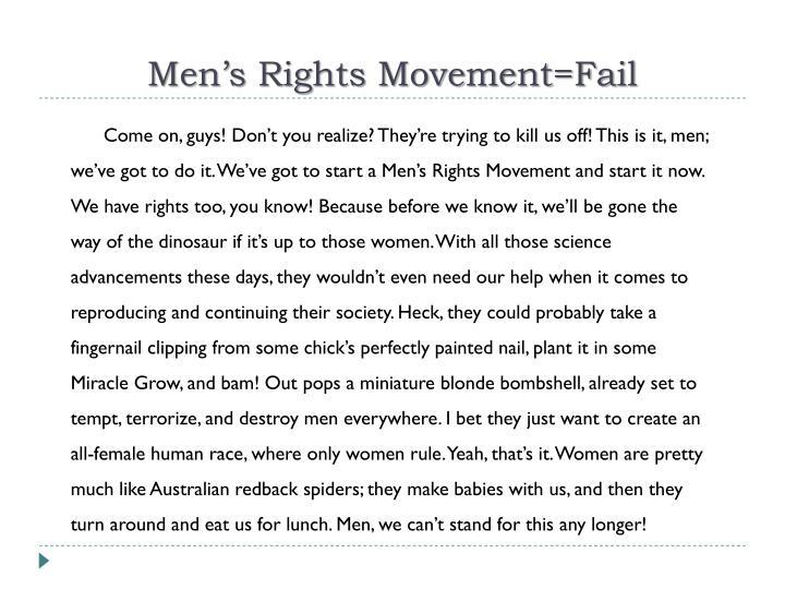 Men's Rights Movement=Fail