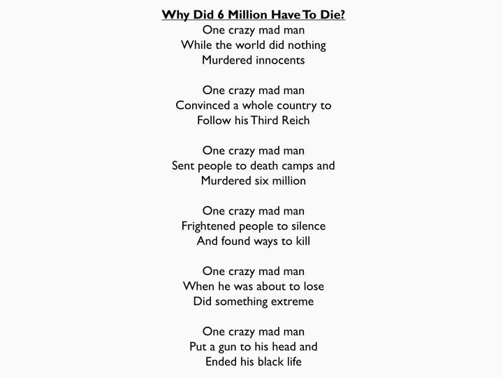 Why Did 6 Million Have To Die?