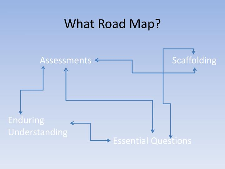 What Road Map?