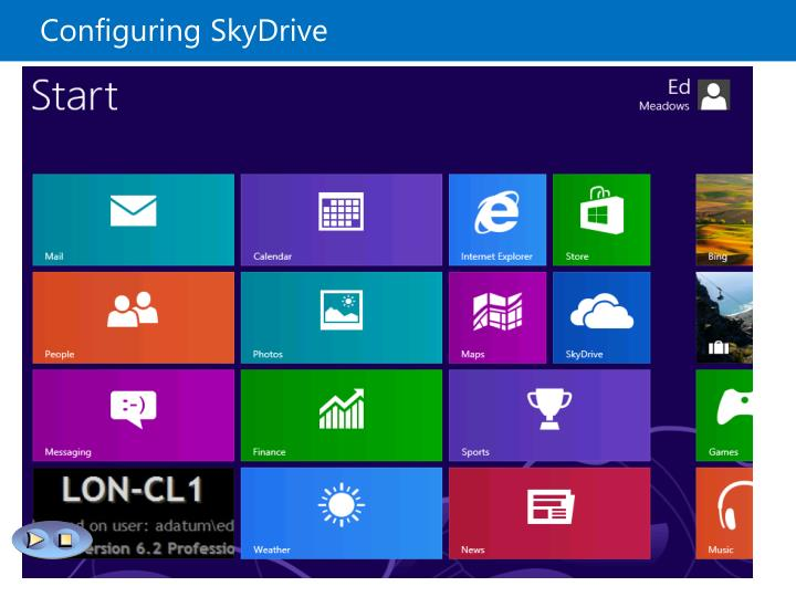 Configuring SkyDrive