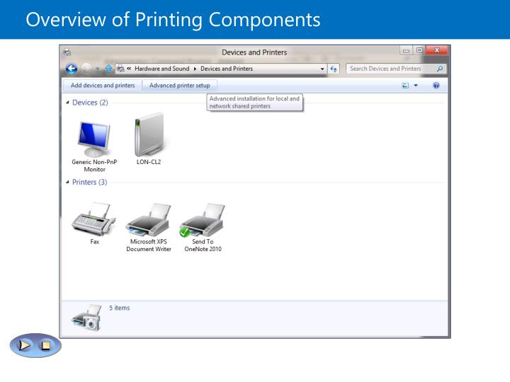Overview of Printing Components