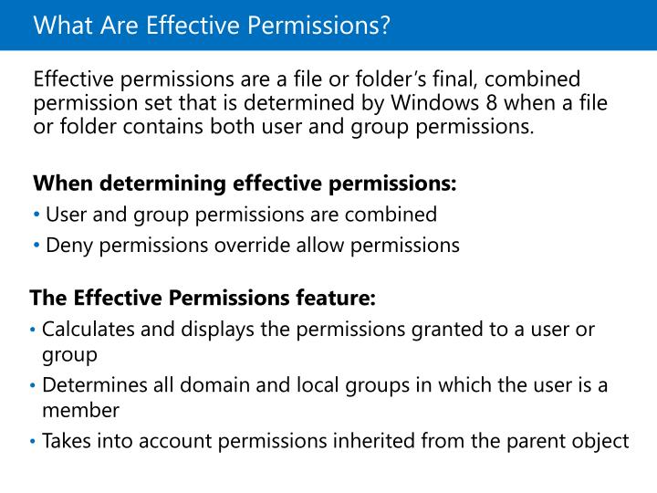 What Are Effective Permissions?