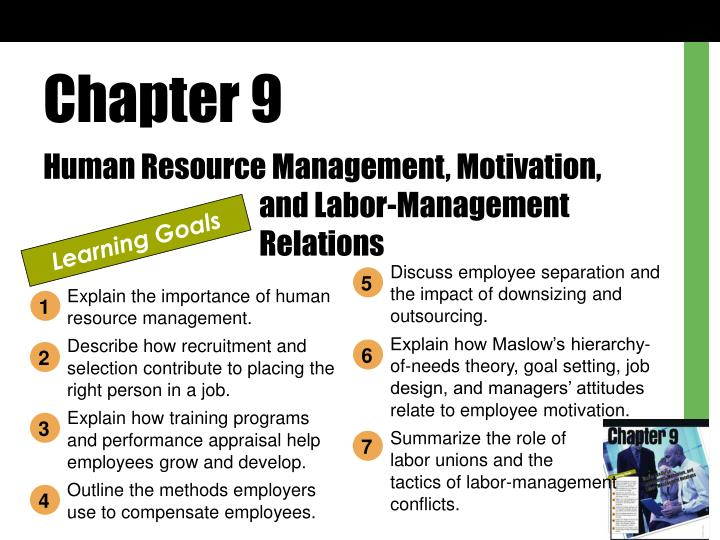 PPT - Chapter 9 Human Resource Management, Motivation, and