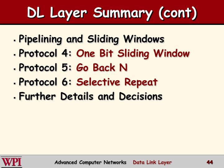 DL Layer Summary (