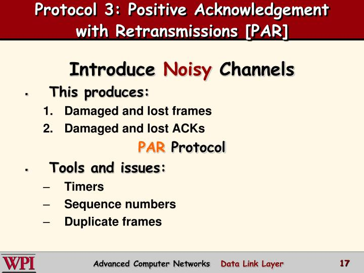 Protocol 3: Positive Acknowledgement