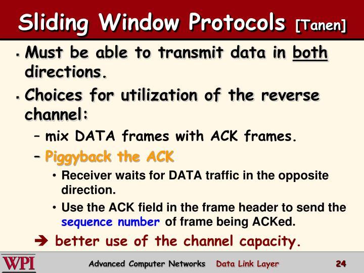 Sliding Window Protocols
