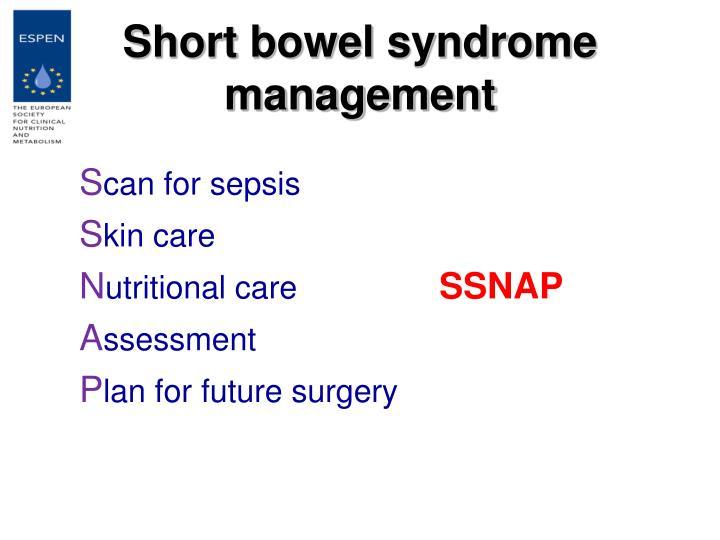 Short bowel syndrome  management