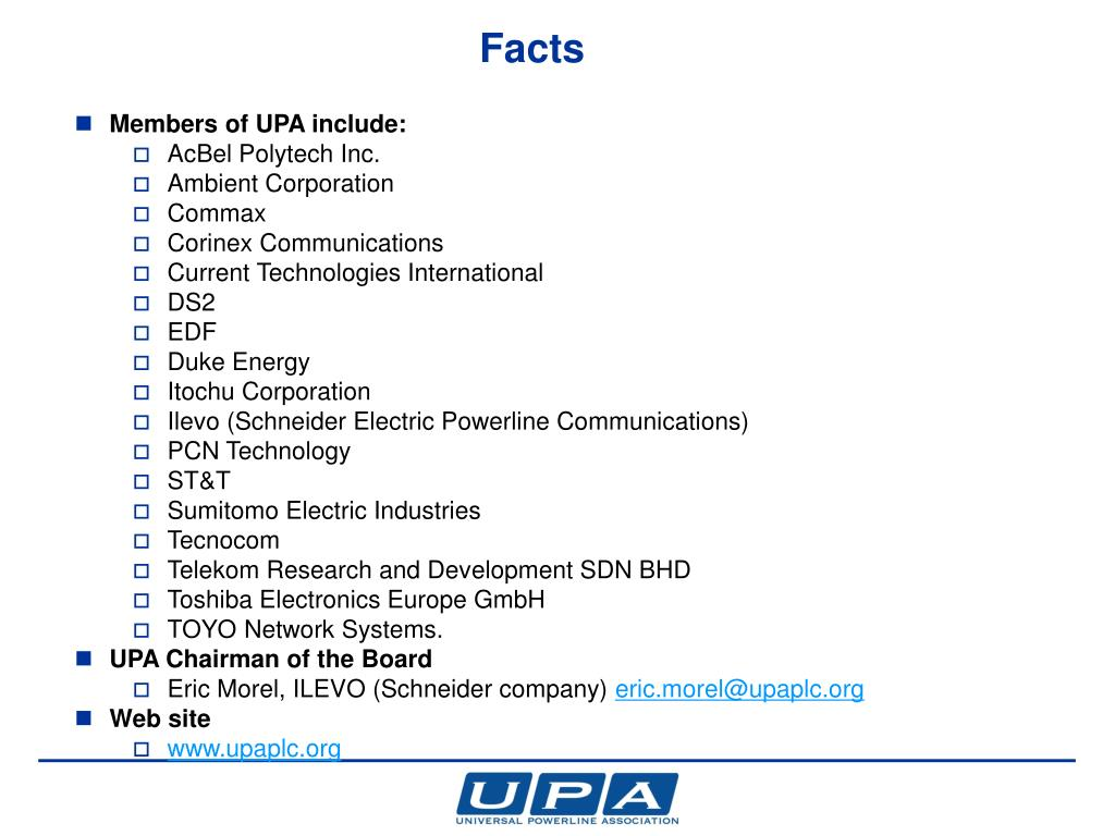 PPT - UPA's vision of Coexistence for Powerline Communications ISPLC