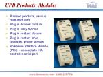 upb products modules