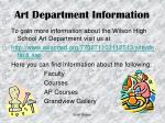 art department information