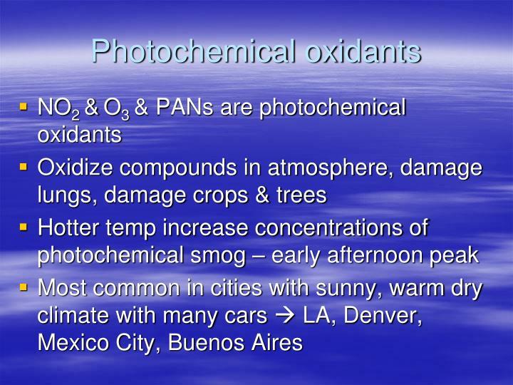 Photochemical oxidants