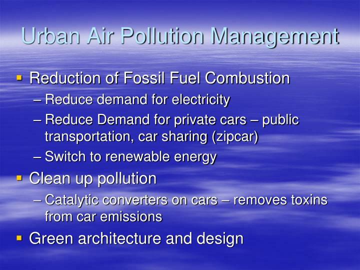 Urban Air Pollution Management