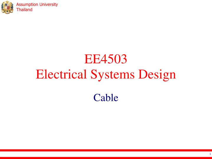 Ppt Ee4503 Electrical Systems Design Powerpoint Presentation Free Download Id 2394475