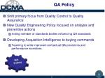 qa policy