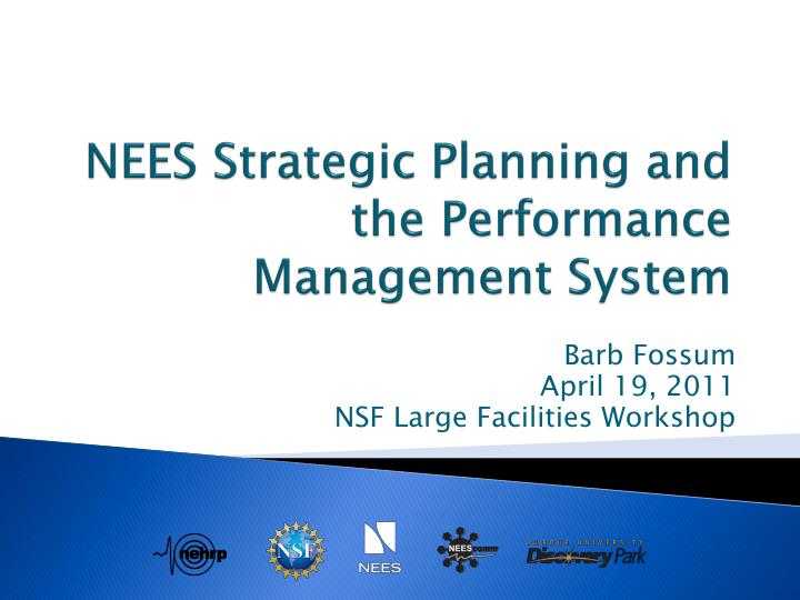 nees strategic planning and the performance management system n.