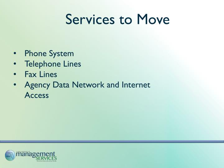 Services to Move