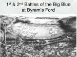 1 st 2 nd battles of the big blue at byram s ford
