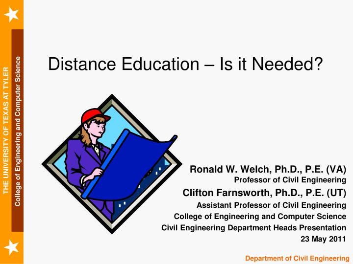 distance education is it needed n.