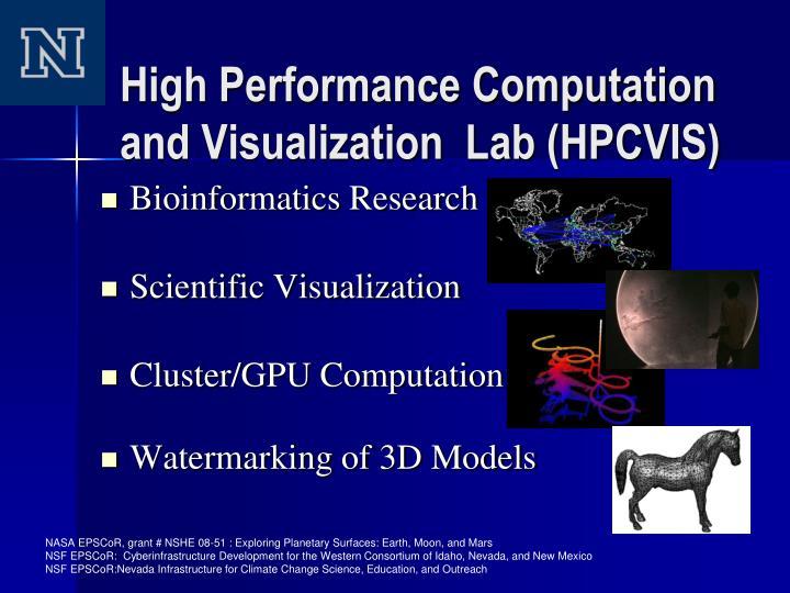 High Performance Computation