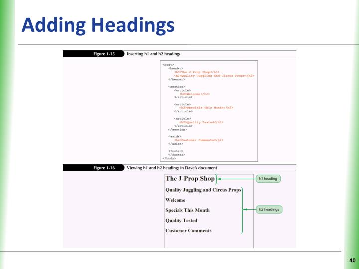 Adding Headings