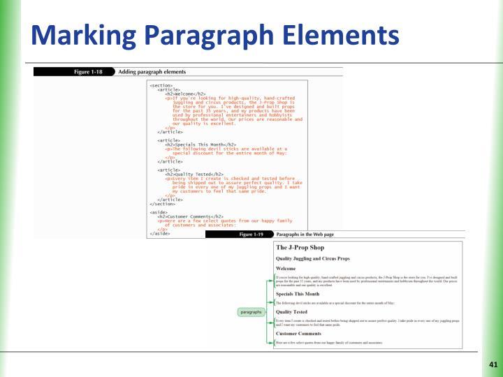 Marking Paragraph Elements