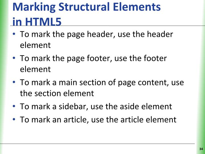 Marking Structural Elements