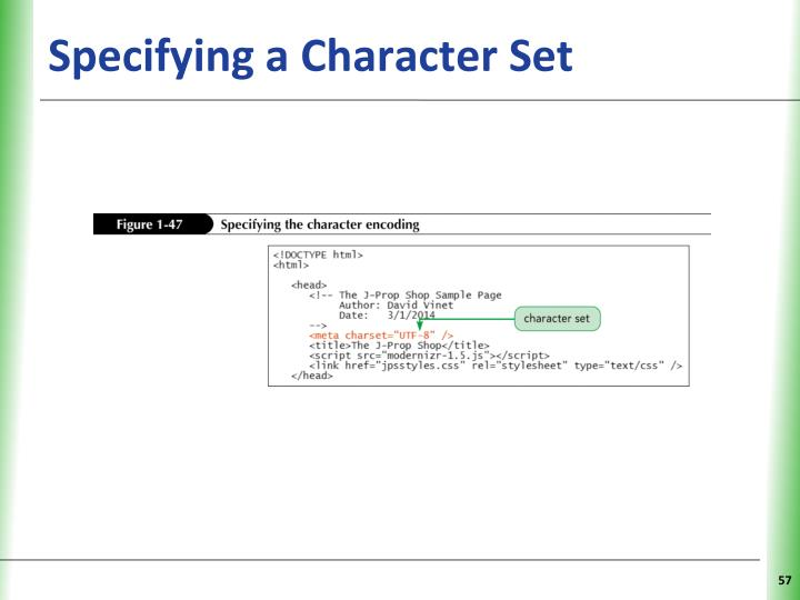 Specifying a Character Set
