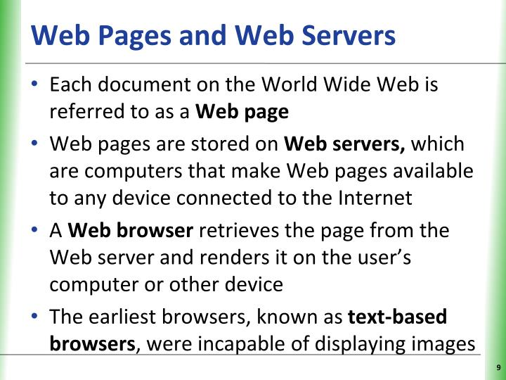 Web Pages and Web Servers