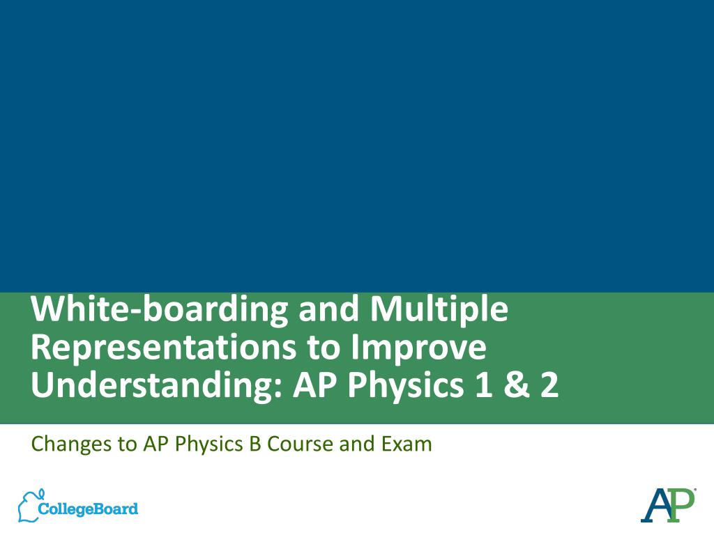 PPT - White-boarding and Multiple Representations to Improve