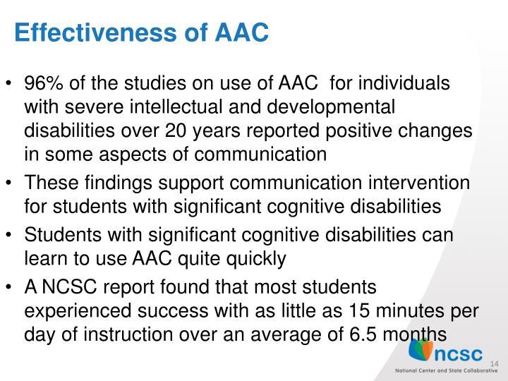 Effectiveness of AAC