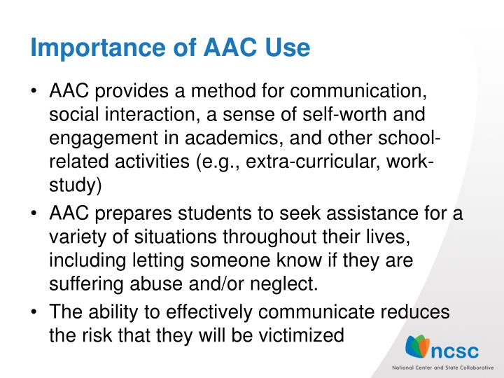 Importance of AAC Use