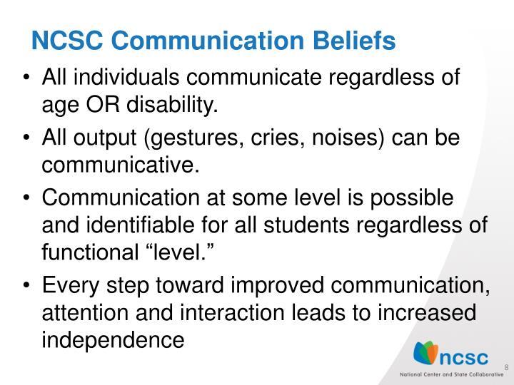 NCSC Communication Beliefs
