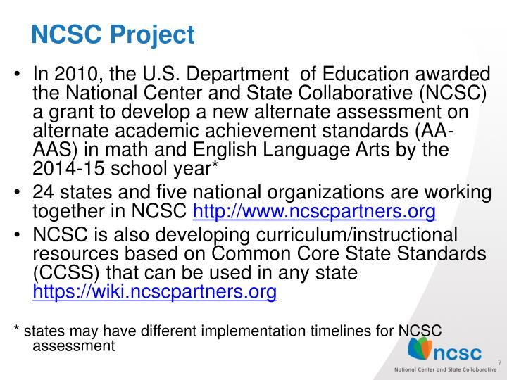 NCSC Project