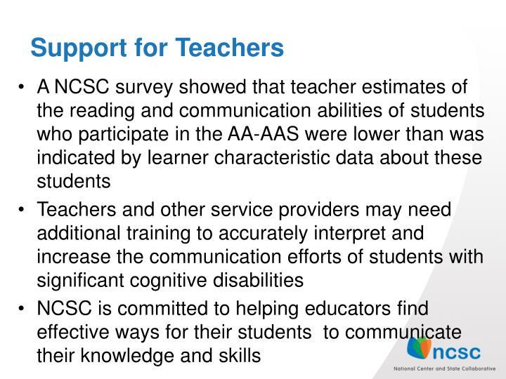 Support for Teachers
