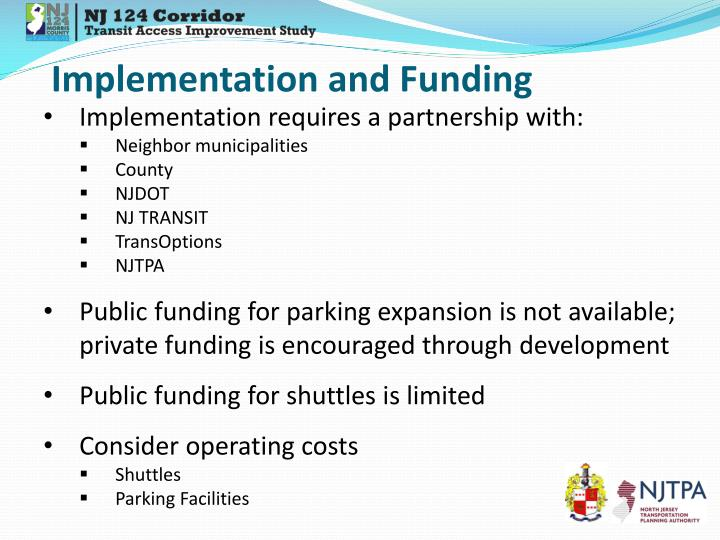 Implementation and Funding