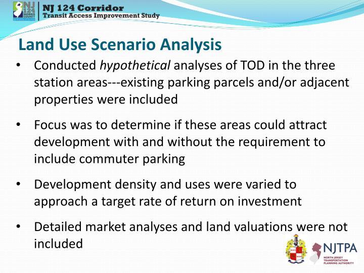 Land Use Scenario Analysis