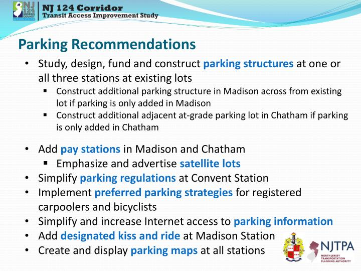 Parking Recommendations