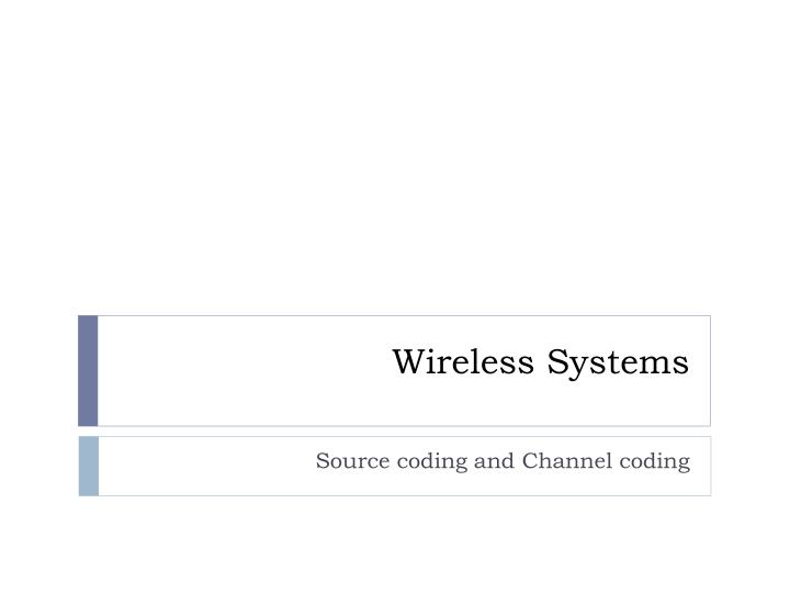wireless systems n.