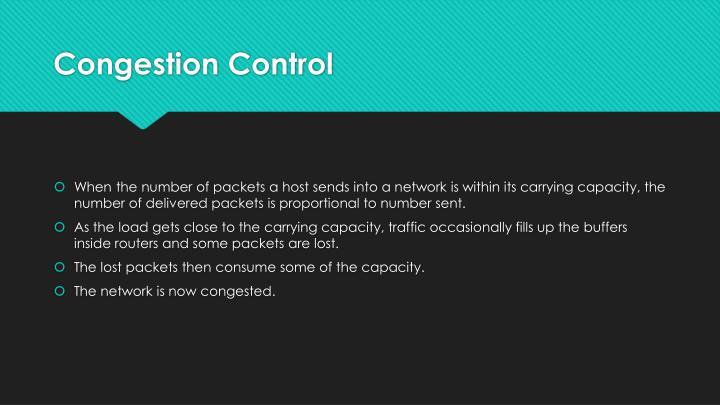 Congestion control1