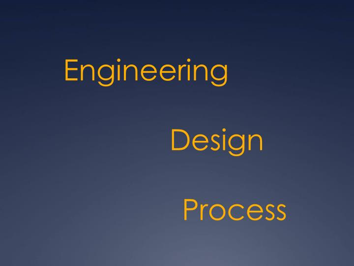 engineering design process n.