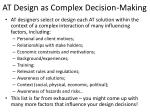 at design as complex decision making