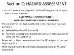 section c hazard assessment