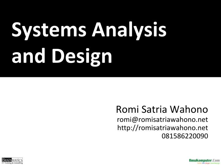 Ppt Systems Analysis And Design Powerpoint Presentation Free Download Id 2395592