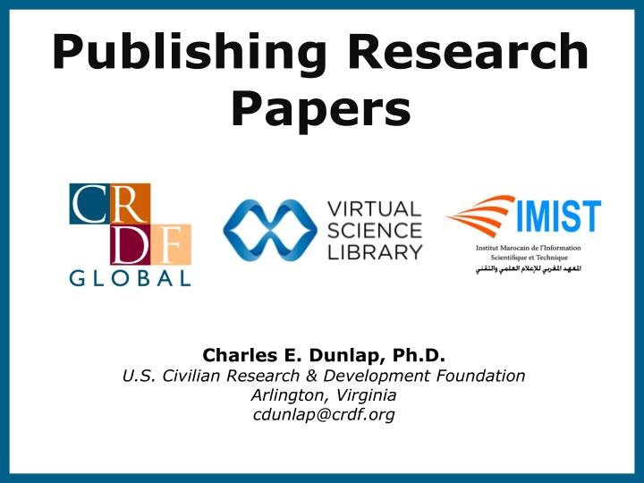 publishing scientific research papers