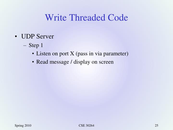 Write Threaded Code